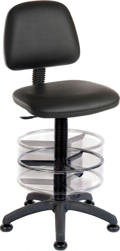 TEKNIK DELUXE DRAUGHTER ERGO BLASTER PU Comfortable Task & Operator Chair PU Black or White